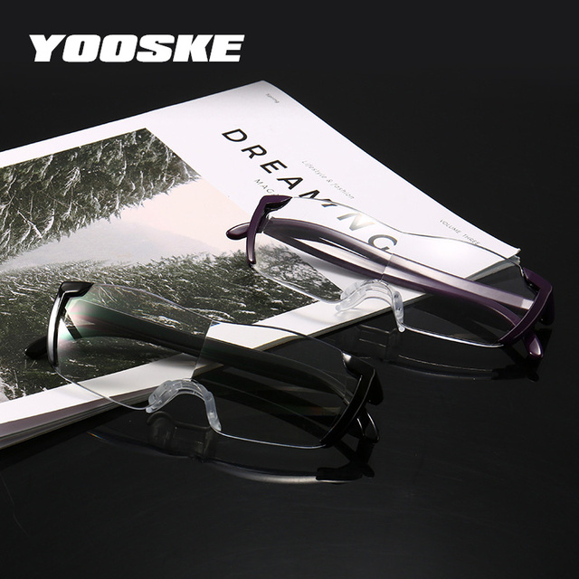 YOOSKE The Same Big Vision 250% Magnifying Glass Magnification 1.6 times Eyewear Reading Glasses Magnifier