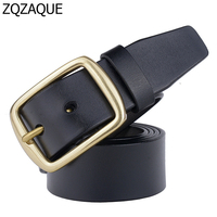 2016 On Sale Hot New Men S 100 Genuine Leather Straps Casual Jeans Bronze Pin Buckle