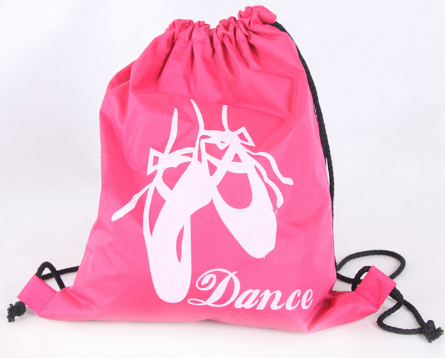 Hot Pink And Black Pointe Shoes Ballet Dance Printing Cute Child Kids Bags