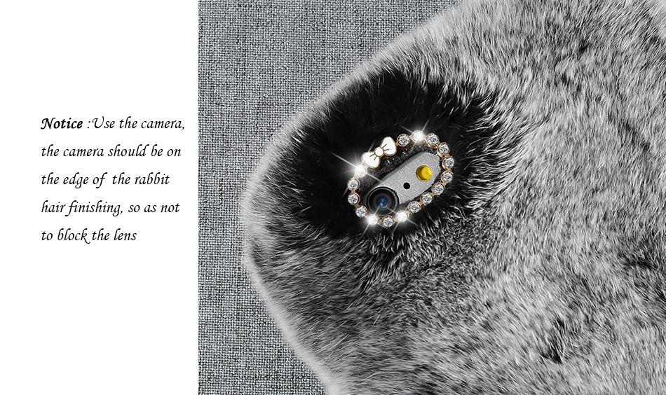 rabbit fur phone case for iPhone 6 7 Plus 5s SE (5)