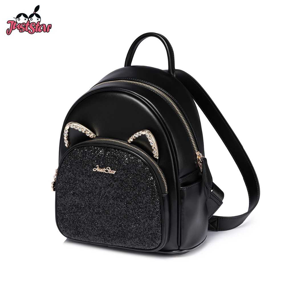 JUST STAR Women's PU Leather Backpack Female
