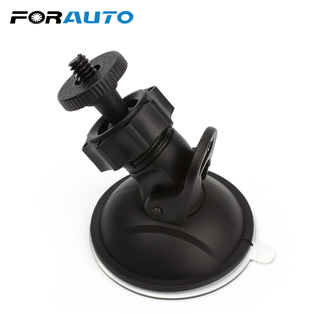 FORAUTO Car DVR Holder DV GPS Camera Stand Holder Mini Suction Cup Mount Tripod Holder Car Mount Holder Mobile 360 degree rotation car suction cup stand holder mount bracket for gps cell phone black red