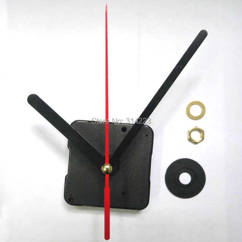 Wholesale 10set New Quartz Clock Movement for Clock Mechanism Repair DIY clock parts accessories shaft 16.5mm JX027