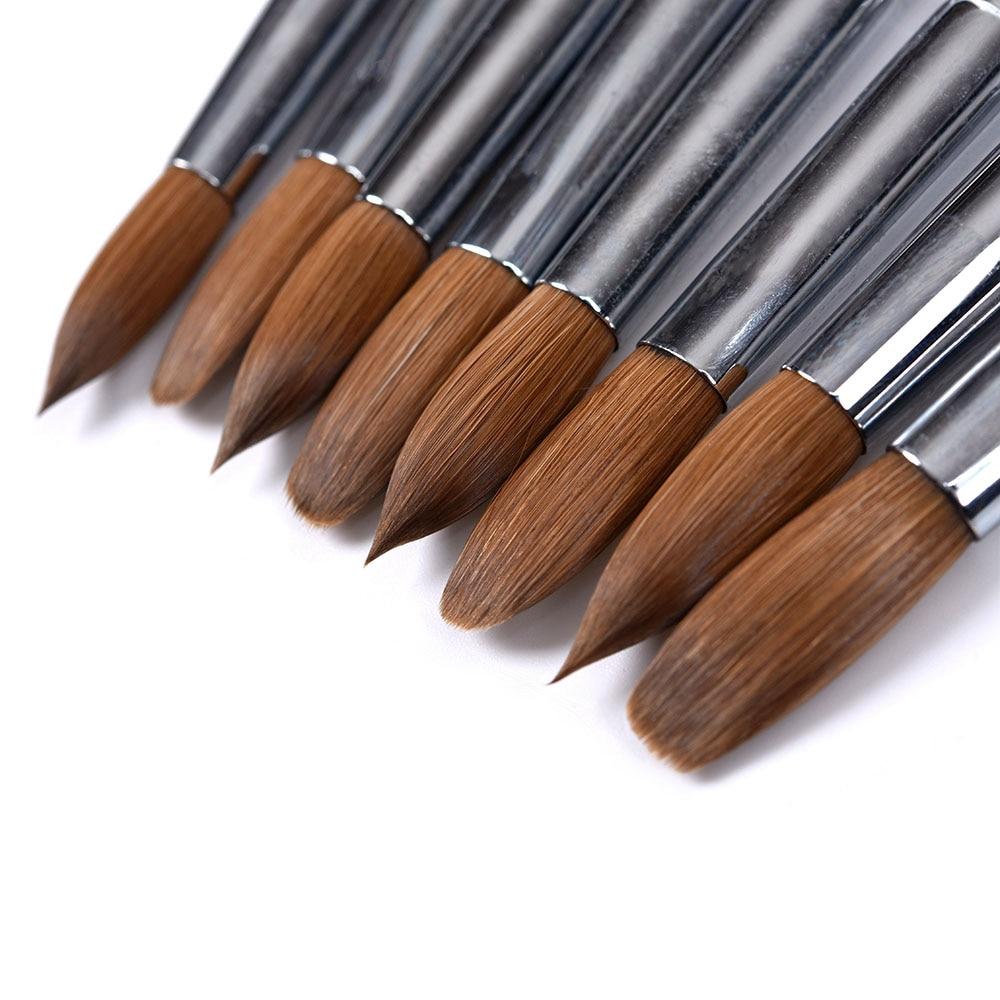 Kolinsky Acrylic Nail Brush Nail Art Brush For UV Poly Extension Builder Gel Brushesacrylic Brush Nails Accessories Brushes Set