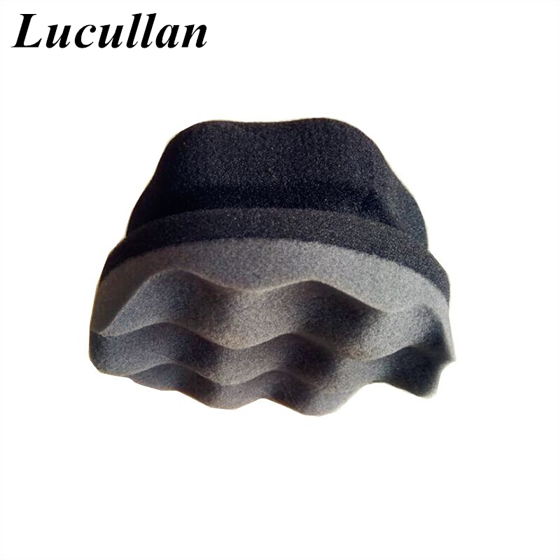Lucullan Make Detailing Easier Wave Type Tire Dressing Tools Hex Grip Applicator Handheld Tire Waxing Sponge