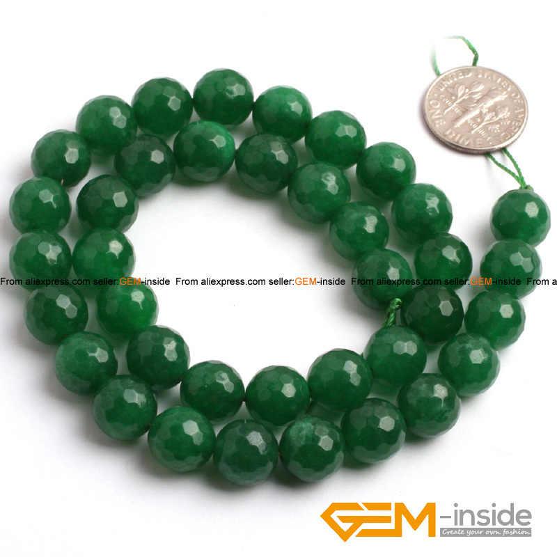 """สีเขียว Jades รอบลูกปัดแฟชั่นเครื่องประดับลูกปัด, DIY ลูกปัดสำหรับสร้อยข้อมือผู้หญิง & สร้อยคอ Strand 15 """"ขายส่ง!"""