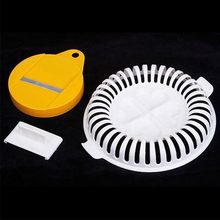 1PC Household DIY Tool Potato Chip Roaster Food Cutter Basket Tray Non-fried Machine Microwave Slice Cutter Chipper Slicer недорого