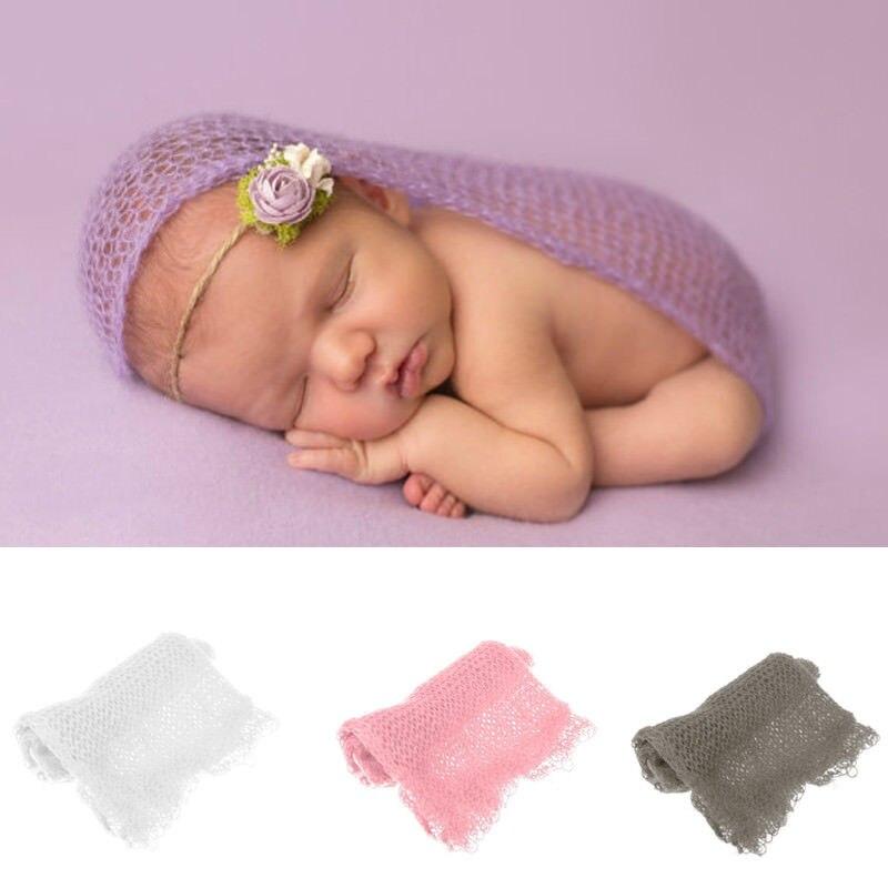 Newborn Baby Stretch Wrap Infant Boys Girls Photography Photo Prop Blanket Rug