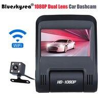Blueskysea 2 45 Dual Lens APP HD 1080P WIFI Vehical Car DVR Dash Camera Video Recorder