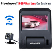"Blueskysea 2.45"" Dual Lens APP HD 1080P WIFI Vehical Car DVR Dash Camera Video Recorder Dashcam G-sensor Night Vision WDR 30FPS"