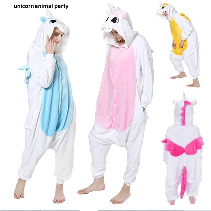 Kigurumi ქალები Anime Unicorn Pajamas Hoodie Pajamas - საკარნავალო კოსტიუმები