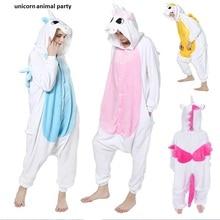 Kigurums Anime Unicorn Pajamas Hoodie Pyjamas Cosplay Costume Adult Onesie For Halloween Party traje de cosplay