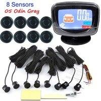 Car Backup Parking LCD Display Monitor Radar Detector 8 Sensors Car Reverse Radar 44 Colors