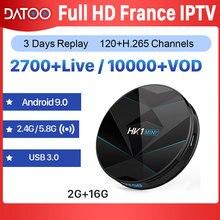 DATOO IPTV France Arabic Portugal Turkey Box HK1 MINI+ Android 9.0 2G+16G BT Dual-Band WIFI IP TV Subscription France IPTV Box все цены
