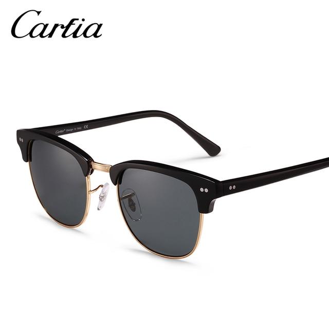 2d7813202 Carfia 2018 Tons Rebite Dos Homens Das Mulheres óculos de Sol Do Vintage  Retro Clássico Designer