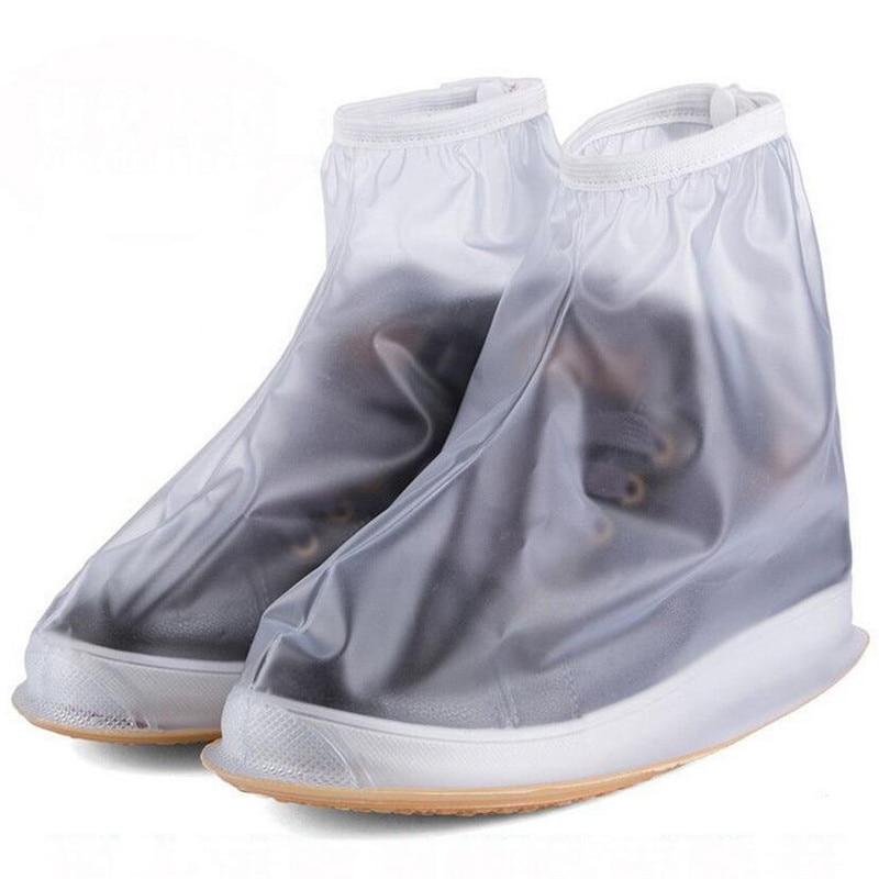 Bike Sneakers for men Slip-resistant Zipper Rain Boot Bicycle womens Waterproof Rain Reusable Cycling sneakers Shoe Coves H023