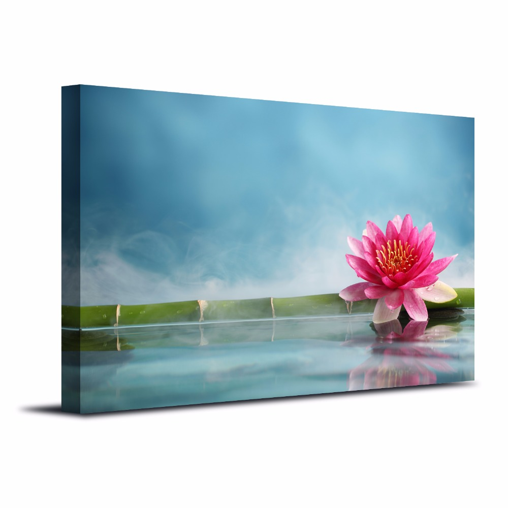 Lotus picture prints for spa lounge photo painting on canvas lotus picture prints for spa lounge photo painting on canvas contemporary wall art for home decor livingroom unframed in painting calligraphy from home izmirmasajfo