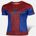 НОВЫЙ 2016 Marvel Капитан Америка 2 Super Hero сжатия лайкра колготки Т рубашки Мужчины фитнес clothing коротким рукавом S-XXXXL