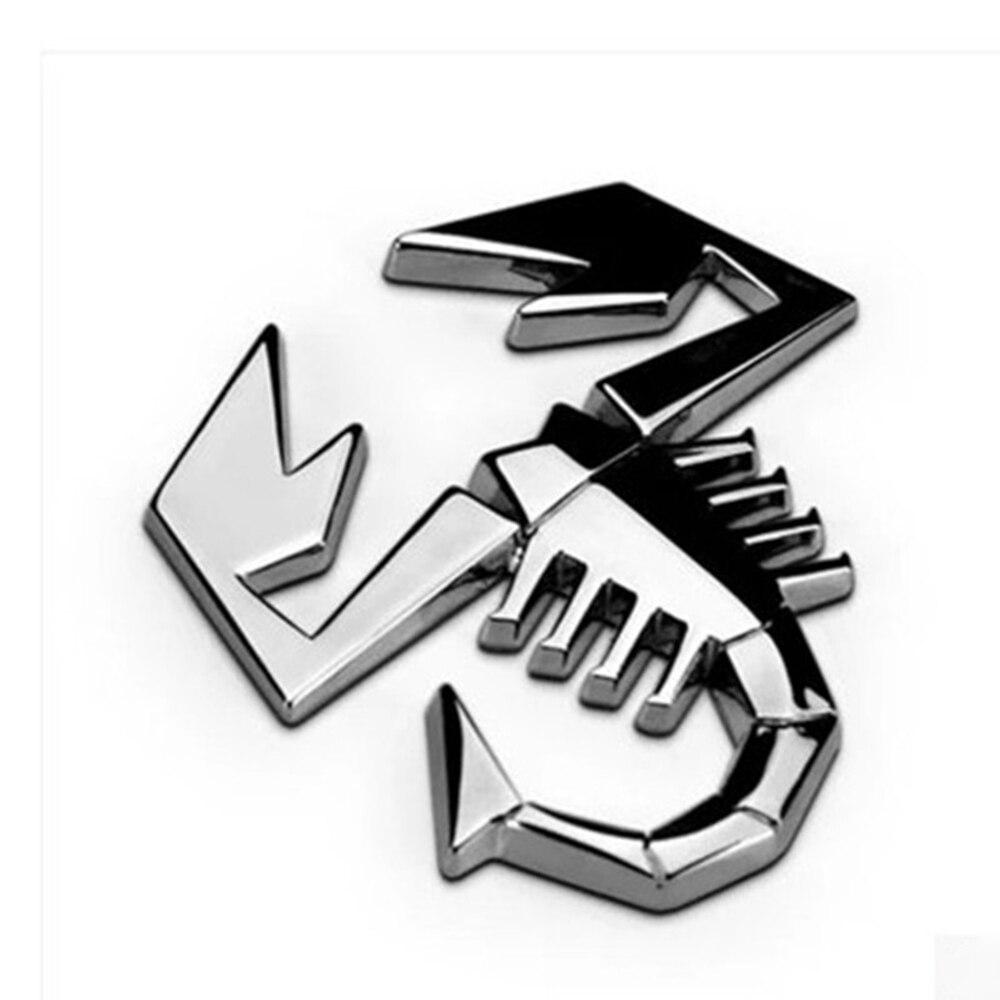 Camion Auto Car Styling 3D Metallo Argento Scorpion Car Sticker Decor Dellemblema del Distintivo Logo Decal trasporto di Goccia 2019