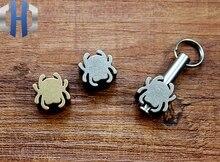 Titanium Alloy / Brass Spider Modeling Knife Beads Fall Hanging Buckle Phone EDC Umbrella Rope Pendant
