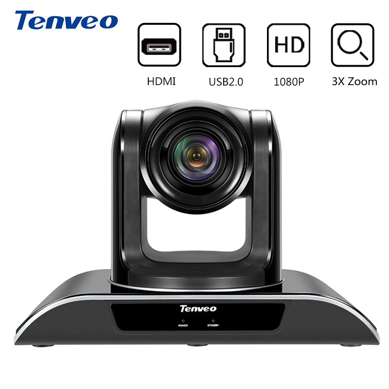 Tenveo VHD103U PTZ HDMI caméra HD 1080 p CCTV caméscope vidéo intelligent avec Zoom optique 10X HDMI 3.0 caméra de vidéoconférence de sortie