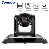 Tenveo VHD103U PTZ HDMI Camera HD 1080p CCTV Smart Video Camcorder With 10X Optical Zoom HDMI 3.0 Output Video Conference Camera