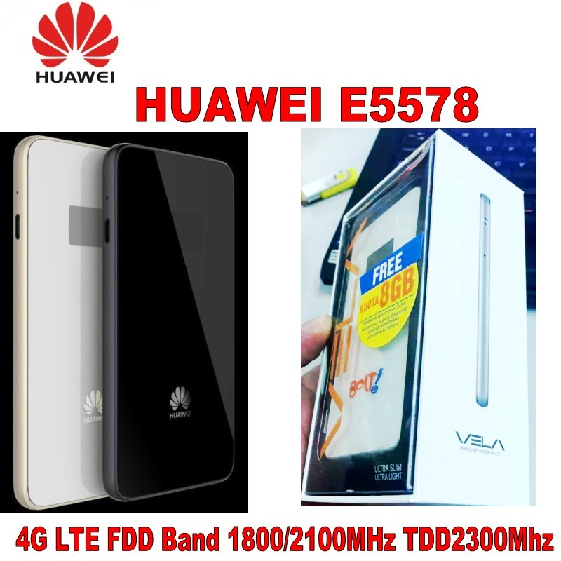 Unlocked huawei E5578 FDD1800/2100Mhz TDD2300Mhz 4G router wifi PK huawei e5878