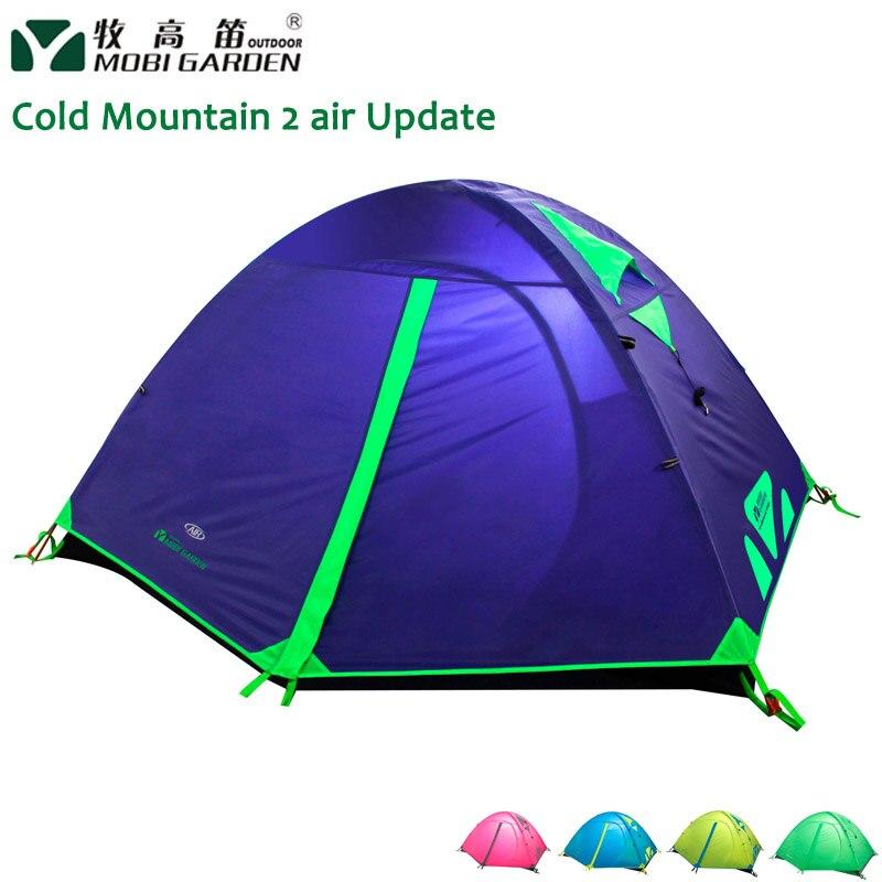 Mobi Garden Cold Mountain 2AIR-Update-Version Aluminum Pole 2-people 3-season colorful Rainproof Tent mountain hardwear mountain hardwear ghost ul 2 tent