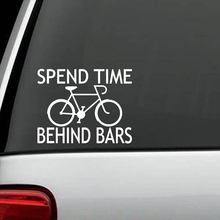 Spend Time Behind Bars Bicycle Decal Sticker Cyclist Seat Light Handlebars Rear Window Car Sticker dare 2b футболка behind bars t