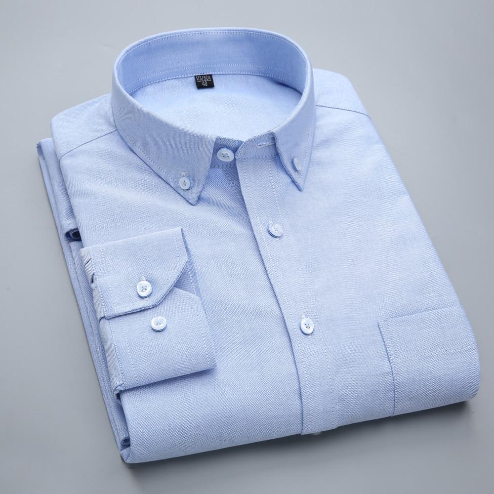 100% Baumwolle Neue Herbst Shirt Männer Mode Langarm Casual Weiß Blau Dünne Luxus Camisa Business Herren Kleid Shirts Männer Kleidung