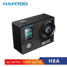 HAMTOD H8A 4K WiFi Action Camera 2.0 inch LCD Screen 1080P HD Diving Waterproof mini Camcorder Sports Cameras 170 Degree lens