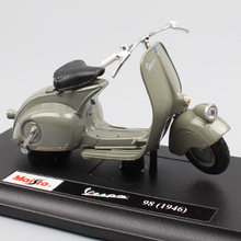 1/18 scale maisto vintage Roman Holiday Piaggio Vespa 98 1946 125 motor scooter motorcycle bike metal diecast toy model for baby