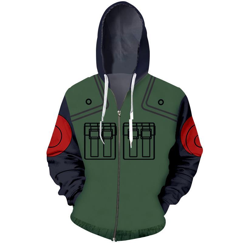2017 new fashion Cool sweatshirt Hoodies Men women 3D print Funny Naruto military uniform hot Style Streetwear Long sleeve cloth