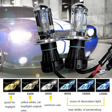 2pcs Hi/Lo HID Xenon Bulb H4 35W  Bi-xenon Super bright 12V car headlight Clearance sale 3000K 6000K 4300K 10000K 12000K