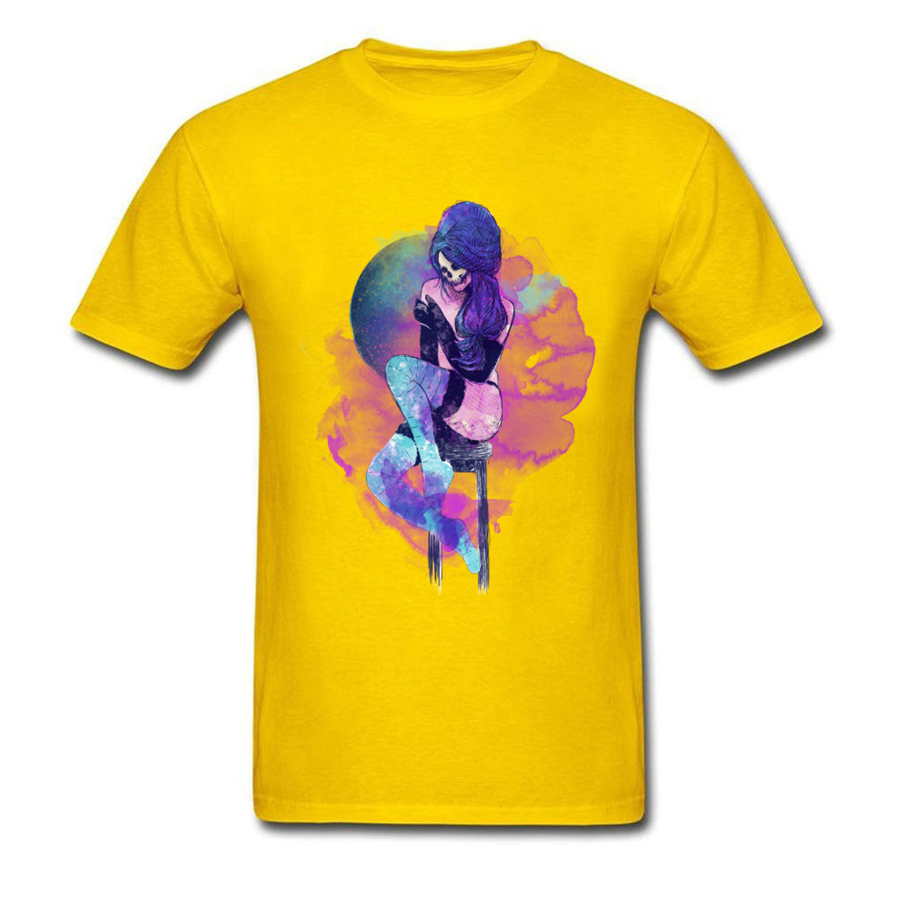 Design A louca Crew Neck T-shirts Summer Fall Tops Shirt Short Sleeve for Men Wholesale 100% Cotton Casual T Shirt A louca yellow