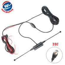 Car anolog tv antenna tv aerial with amplifier booster Car Antenna IEC connector free shipping(China)