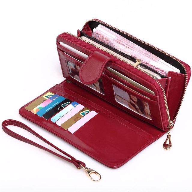 billetera de cuero para mujer, Cartera para mujer, monedero para mujer, monedero para monedas, tarjetero con cremallera multifunción