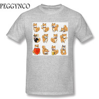 2017 Various Colors Funny Cotton SHIBA INU Funny Cotton T Shirt For Men