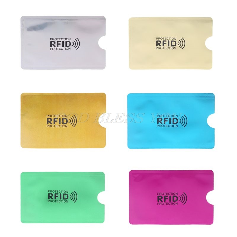 952fc647d490 US $0.16 15% OFF|RFID Blocking Sleeve Credit Card Protector Bank Business  Cards Holder Case Storage Bags-in Storage Bags from Home & Garden on ...