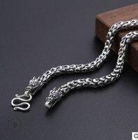 long necklace men dragon necklaces personalize 100% silver 925 mens jewellery