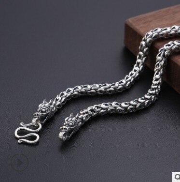 long necklace men dragon necklaces personalize 100% silver 925 mens jewellerylong necklace men dragon necklaces personalize 100% silver 925 mens jewellery