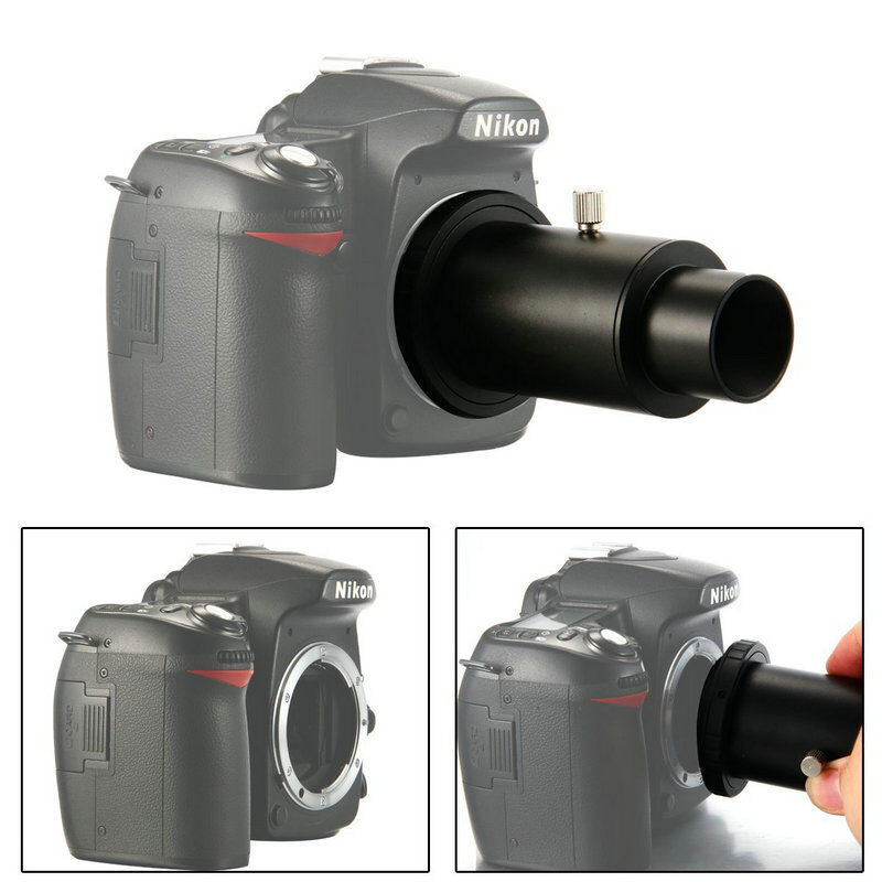 "CSO Full Metal Telescope Camera Adapter T-Ring + 1.25"" Telescope Mount Adapter + Extension Tube for Nikon DSLR / Canon EOS DSLR"