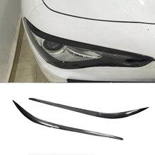 Передняя фара из углеродного волокна, фара с козырьком, веки для Alfa Romeo Giulia Quadrifoglio Sedan-, автостайлинг