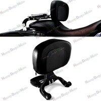 Black Multi Purpose Adjustable Driver & Passenger Backrest For Harley Touring Street Glide Road King Cross Country