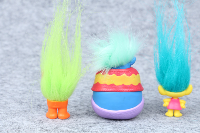 baby toys Trolls Action Toys Branch Critter Skitter Figures 6pcs/set hair toys mini action figures pvs collection gifts in bag