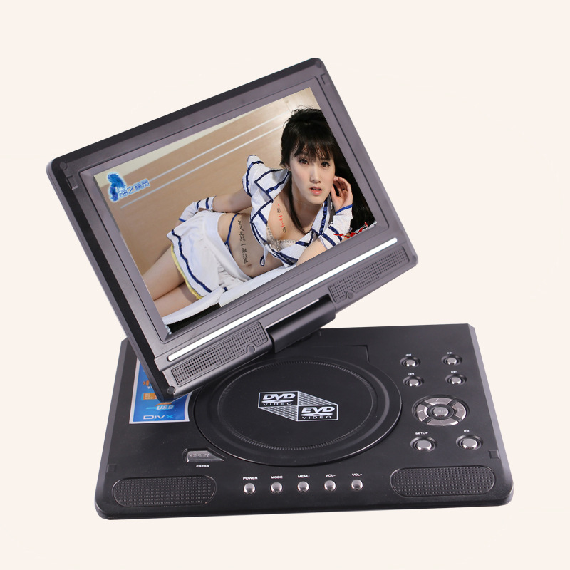Foreign manufacturers selling goods 9.8 inch portable DVD with mini TV HD player 14 inch hd dvd player mobile dvd divx player small portable tv evd long play