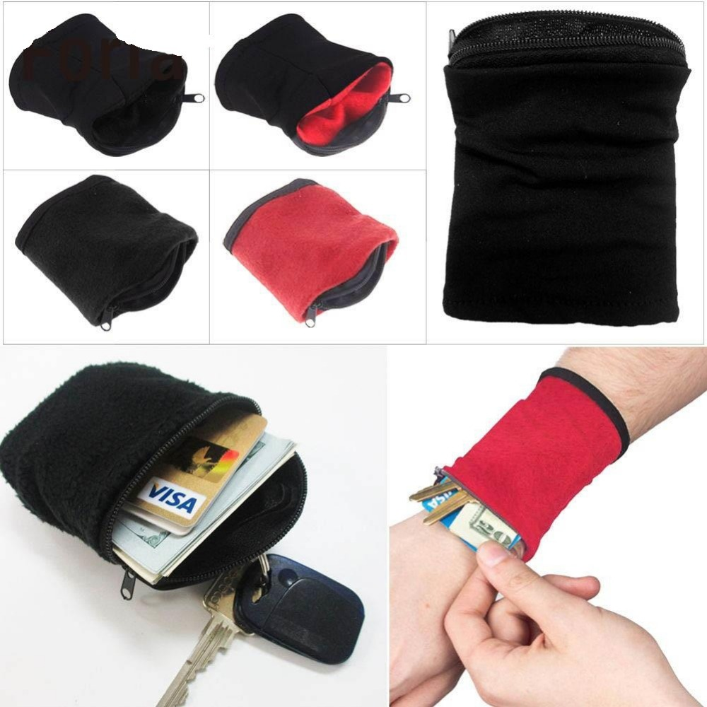 Hot 1PC Wrist Wallet Pouch Fleece Zipper Travel Gym Cycling Sport Wallet Hiking Accessiories High Quality Outdoor Camping Tool