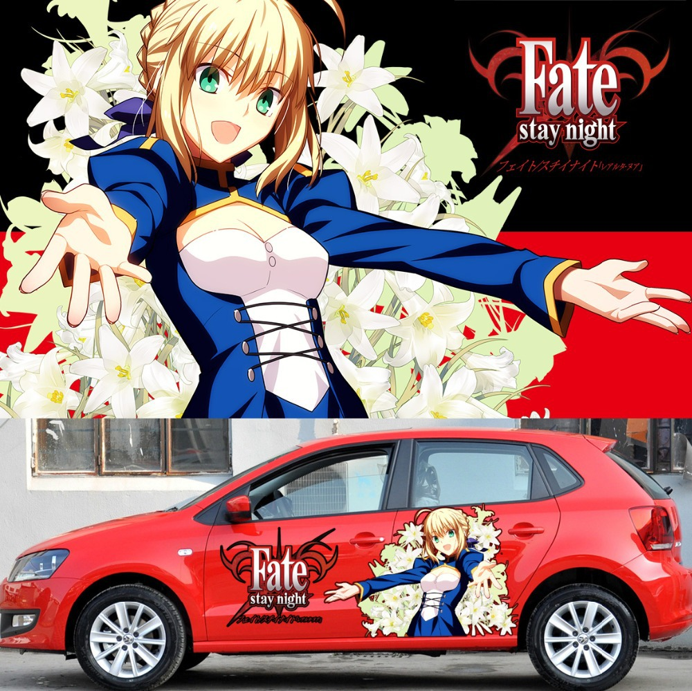 Itasha 2 pieces custom anime sticker fate stay night car