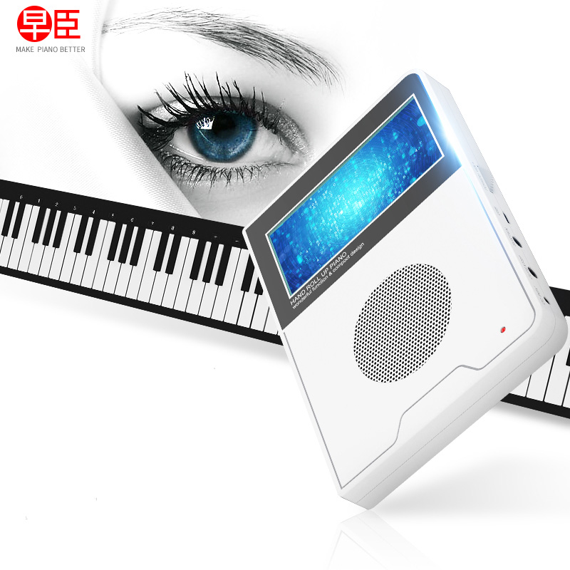 mini digital midi controller roll up electric synthesizer musical instruments electric pionino soft keyboard piano with sticker