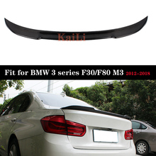 цена на For BMW 3 Series F30 F80 M3 Carbon Rear Trunk Spoiler Boot Tail Lip 2012-2018 Car Wing